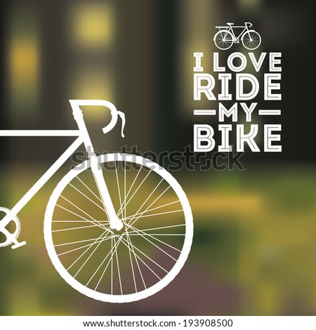 Bike design over blur background, vector illustration, - stock vector