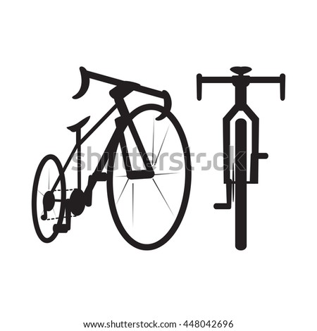 Bike Icon Front Bottom View Vector Stock Vector 448042696