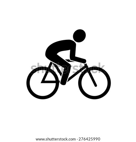 Bike icon vector - stock vector