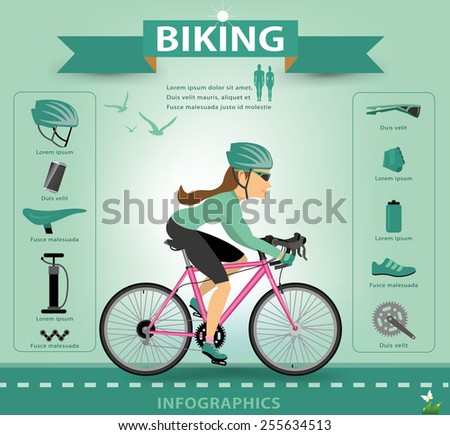 Bike icons infographic.vector