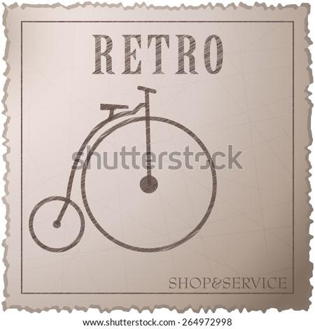 Bike shop logo template,vector illustration. - stock vector