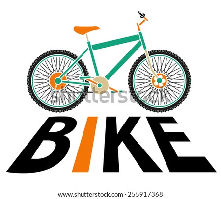 bike silhouette - stock vector
