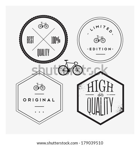 Bike stamp set - stock vector