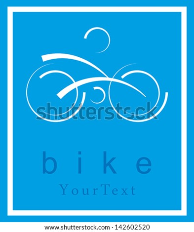Bike symbol - stock vector