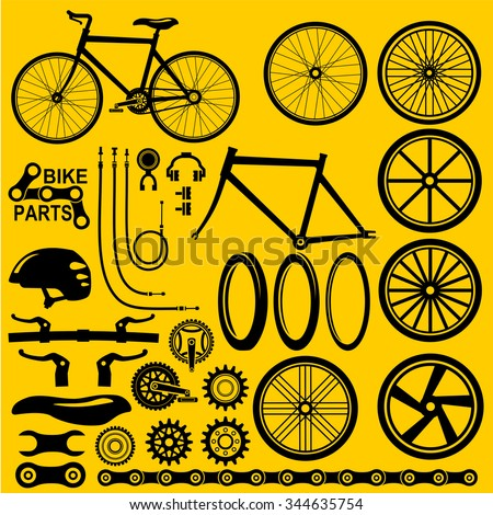 Bike wheels icon vector - stock vector