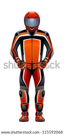 Biker - stock vector