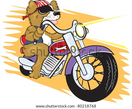 Biker Mutt - stock vector