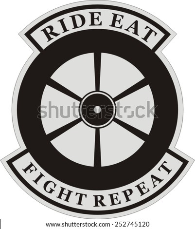 Biker patch - stock vector