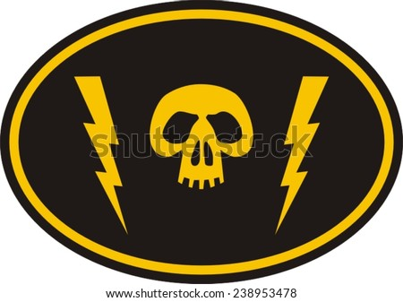Biker patch, military patch - stock vector