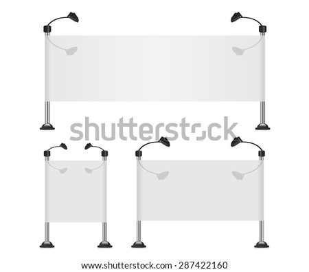 Billboard banner collection set - stock vector