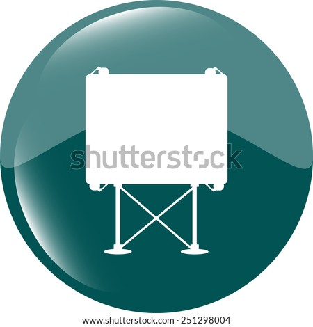 billboard button icon web sign - stock vector