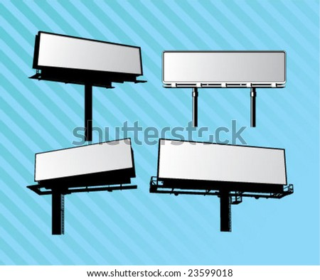 billboard collection design element - stock vector