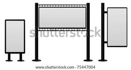 billboard constructions set - stock vector