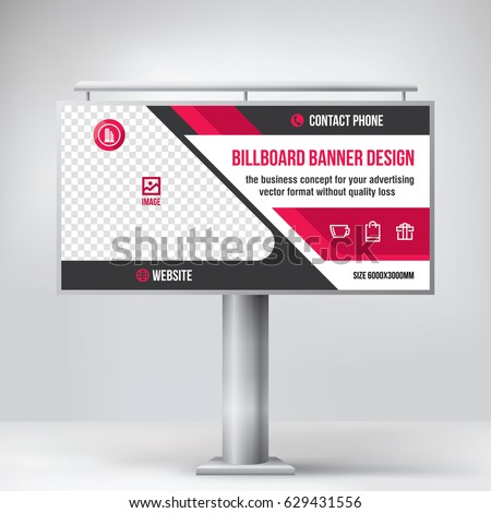 billboard design universal template placement advertising stock vector 629431556 shutterstock. Black Bedroom Furniture Sets. Home Design Ideas