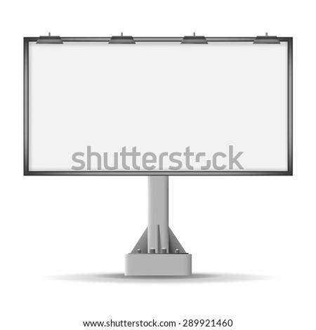 billboard for advertising, vector - stock vector