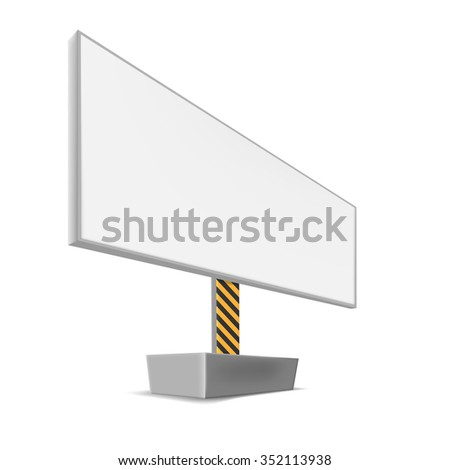 billboard for advertising, vector - stock vector