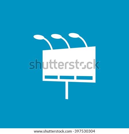 billboard icon - stock vector