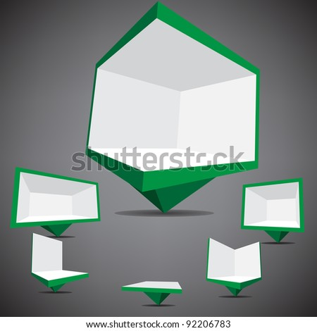 billboard icon - stock vector