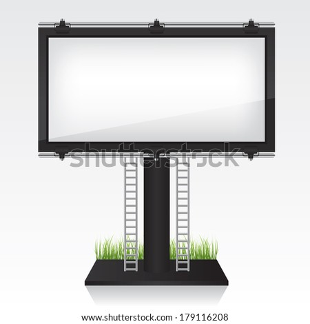 Billboard illustration - stock vector