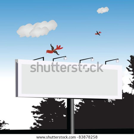 Billboard in nature - stock vector
