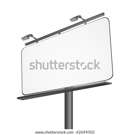 Billboard isolated on white vector - stock vector