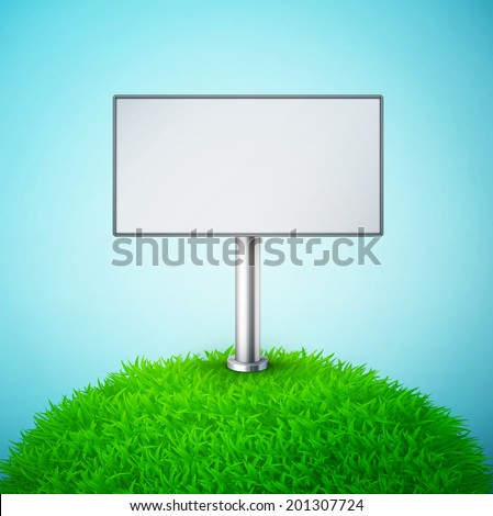 billboard on the grass with sky eps10 vector illustration