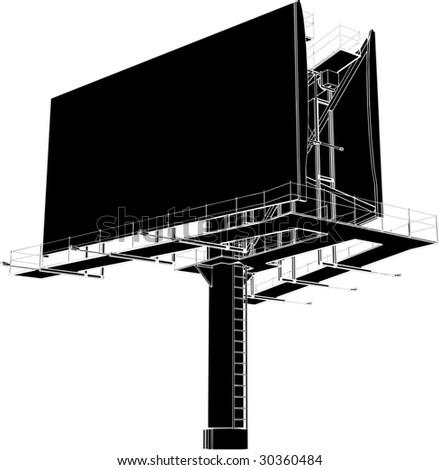 Billboard Outdoor Advertising Construction Vector 12 - stock vector