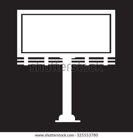 Billboard presentation  icon - stock vector