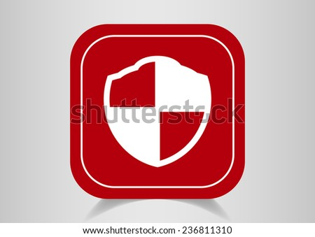 billboard sign of protection, web icon. vector design