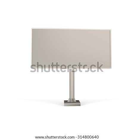 billboard surface for advertising, outdoor advertising, outdoor advertising vector isolated - stock vector