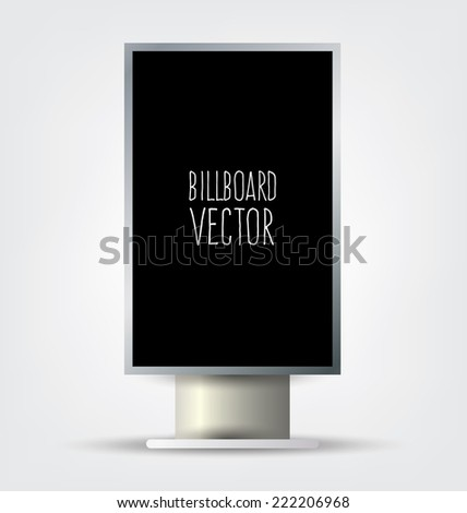 billboard template. Outdoor advertising vector illustration. - stock vector