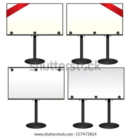 Billboards. Vector set. - stock vector