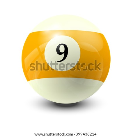 billiard ball 9- realistic vector design