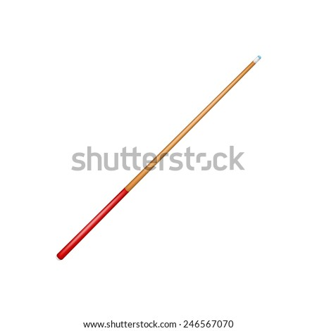 Billiard cue  - stock vector