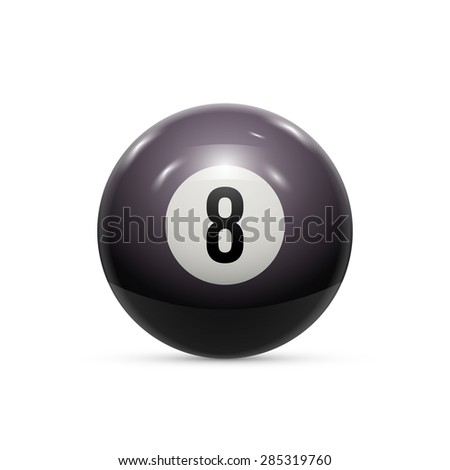 Billiard eight ball isolated on a white background - stock vector