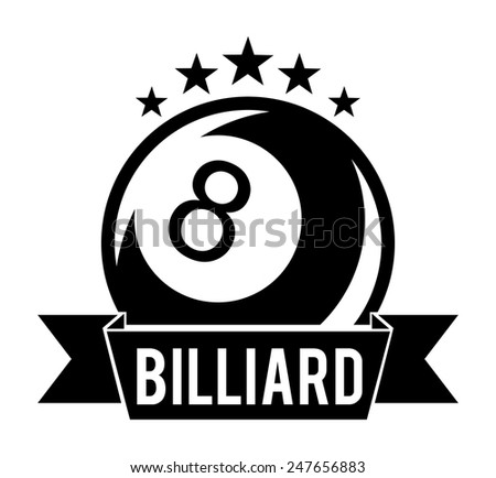 billiard tournament design, vector illustration eps10 graphic