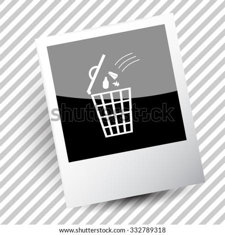 bin. Photoframe. Vector icon. - stock vector