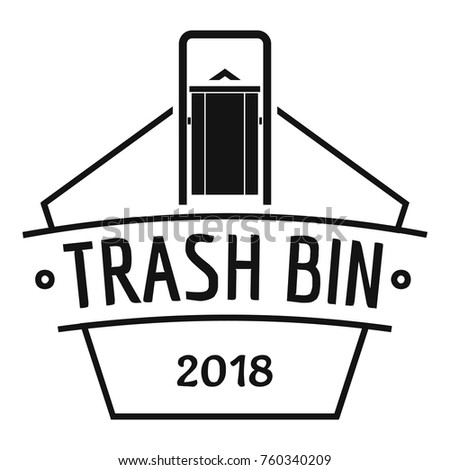 bin trash logo simple illustration bin stock vector