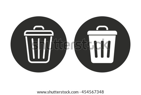 Bin vector icon. Illustration isolated for graphic and web design. - stock vector