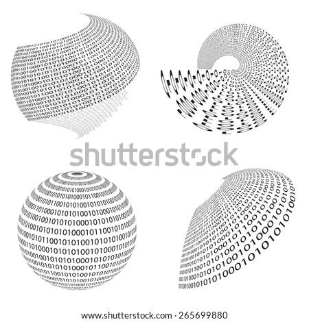 Binary background . Vector Technology Illustration . - stock vector