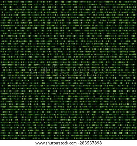 Binary background with green digits. Vector illustration.  - stock vector