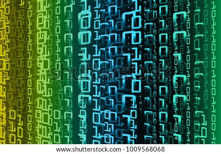 binary circuit board future technology, blue green cyber security concept background, abstract hi speed digital internet.motion move blur. vector