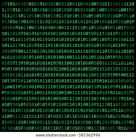 Binary code zero one matrix green stock vector 585362996 binary code zero one matrix green background beautiful banner wallpaper design illustration voltagebd Choice Image