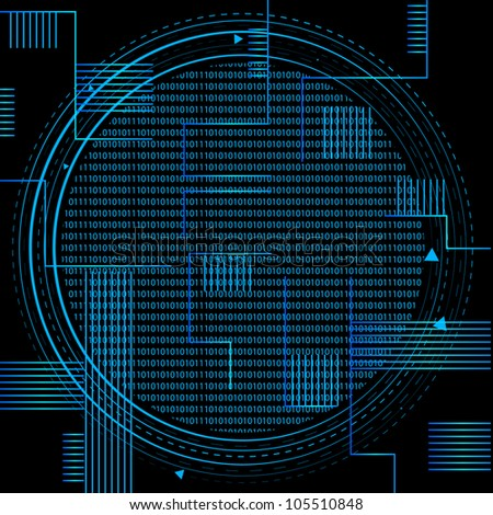 Binary Technology. Jpeg Version Also Available In Gallery. - stock vector