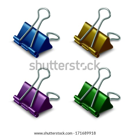 Binder, Stationery, Vector realistic object  - stock vector
