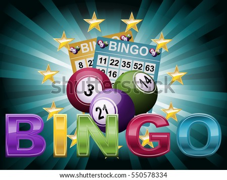 Bingo Ball and tickets background