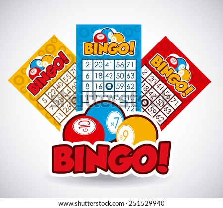Bingo design over white background, vector illustration. - stock vector