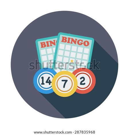 Bingo. Flat icon for mobile and web applications. Vector illustration. - stock vector