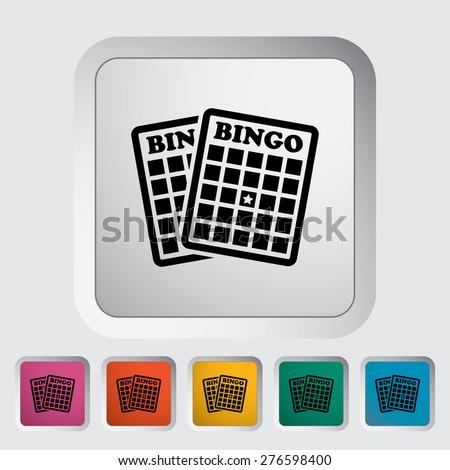 Bingo. Single flat icon on the button. Vector illustration. - stock vector