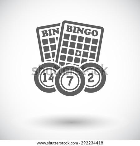 Bingo. Single flat icon on white background. Vector illustration. - stock vector